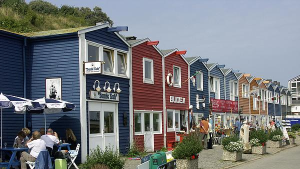 colourful shops on Heligoland