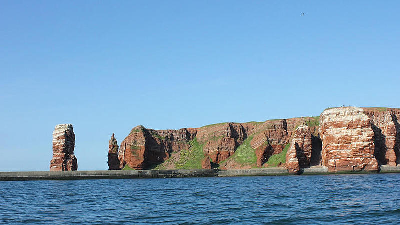Island Helgoland from far.