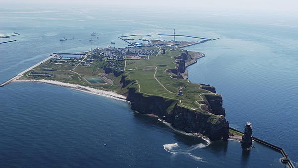 the entire island Heligoland from above