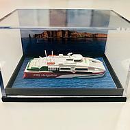 Miniature shipmodel Halunder Jet side view