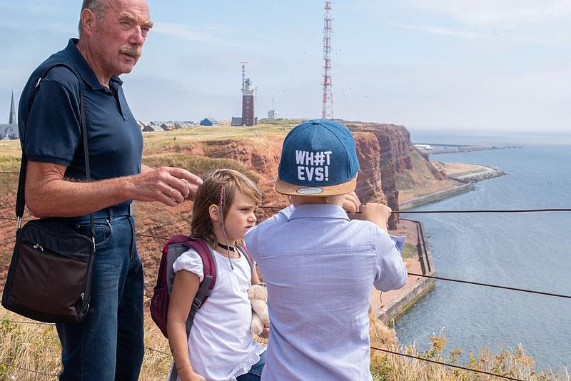 Island tour with children on Heligoland