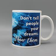 Front view Helgoline coffee mug blue